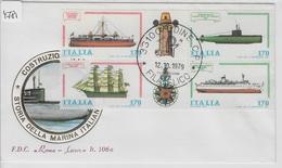 1979 FDC Storia Della Marina Italiana - Construzioni Navali - Udine 12.10.79 - Maritime