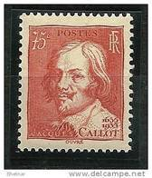 "FR YT 306 "" Jacques CALLOT "" 1935 Neuf** - Frankreich"
