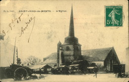 N°700 RRR GG SAINT JEAN DE MONTS  EGLISE COINS ABIMES - Saint Jean De Monts