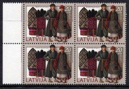 LATVIA 2005 Knitted Gloves Block Of 4 MNH / **.  Michel 648 - Latvia