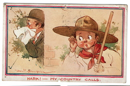 Scouts - Hark ! My Country Calls - Illustr. Fred Spurgin - 1913 - Edit. Inter-Art Co. - 2 Scans - Scoutisme