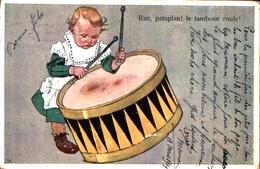 éditeur BKWI 452-4 Vienne, Enfant Le Tambour Roule - Illustratori & Fotografie