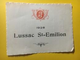 8170 - Lussac Saint-Emilion 1928 - Bordeaux