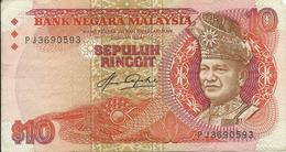 MALAYSIA - 10 RINGGIT - 1983 - PJ3690593 - USED - SEE SCAN - Malaysie