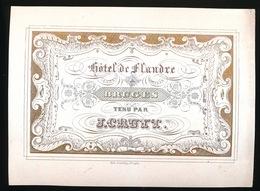 BRUGGE PORSELEINKAART 14 X 10.5 CM  HOTEL DE FLANDRE TENU PAR J.CRUYT - Brugge