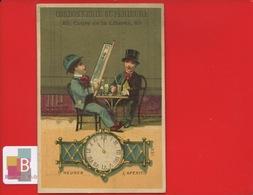 LYON Cordonnerie Cours Liberté Chromo Courbe Rouzet Heure  Temps Chronologie Montre Apéritif Bistrot Absinthe Journal - Autres