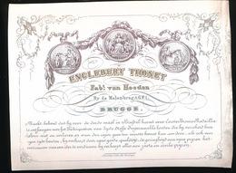 BRUGGE PORSELEINKAART 14 X 11 CM  ENGLEBERT THONET FABt. VAN HOEDEN  BY DE MOLEN BRUG N° 1 BRUGGE - Brugge