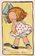 AL64 Artist Signed Wandersheim?? - Cute Little Girl, Chase Me! - Illustrators & Photographers