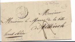 EL088 / Elsass,La Wantzenau 1847. Landpost Altkirch (Poste Rurale) - Alsace-Lorraine