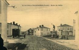 N°720 RRR GG SAINT CYR EN TALMONDAIS  ROUTE DES SABLES   CARTE ABIMEE COIN BAS GAUCHE - Autres Communes
