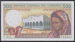 Comores 500 Francs (ND 1986) UNC - Comoros