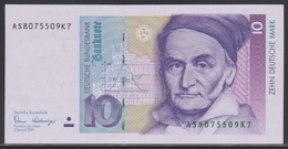 Deutschland 10 Mark 02.01.1989 UNC - [ 7] 1949-… : FRG - Fed. Rep. Of Germany