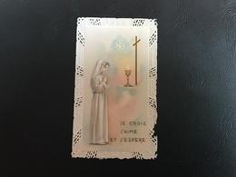 140-1 Canivet «je Crois, J'aime Et J'espere» Souvenir Communion Solennelle Eglise DOMMARTIN (69) 1967 - Images Religieuses