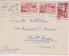 MAROC 1949 LETTRE DE MARRAKECH - Marokko (1891-1956)