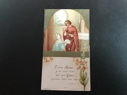 332-1 «Comme Marie Je Ne Veux Vivre Que Pour Jesus Present Dans Mon Coeur» Eglise St Michel Lyon 1930 - Images Religieuses