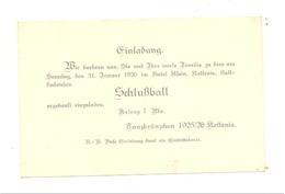 KETTENIS - Einladung / Invitation Pour Le Bal De Fin D'année 1925 à L' Hôtel Klein  (nod1) - Faire-part
