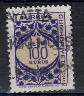 Turkiye Cumhuriyeti 1973 - Oblitéré Used - Resmi - 100 Kurus - Turkey