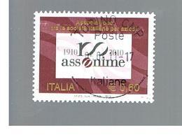 ITALIA REPUBBLICA  -   2010    ASSONIME   -   USATO  ° - 6. 1946-.. Repubblica