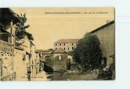 CHATILLON Sur CHALARONNE - Un Coin Du Village Colorisé - 2 Scans - Châtillon-sur-Chalaronne