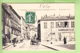 TARARE - Place Madeleine Et Rue Etienne Dolet - Dépôt Des Pompes à Incendie - Animée - Peu Courant -  2 Scans - Tarare
