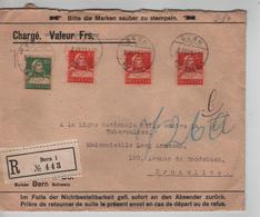 Suisse Lettre Chargée Recommandée Bern 1925 Verso C.de Cire ZUMSTEIN V.Bruxelles  PR5189 - Suisse