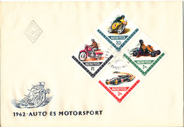 Hungary FDC 28-12-1962 Motorsport  With Cachet Not Complete (big Size Cover) - FDC