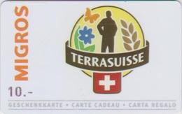 GIFT CARD - SWITZERLAND - MIGROS 331 - TERRASUISSE - Gift Cards