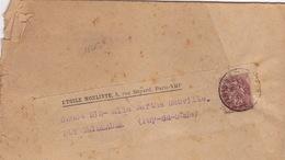 18663# BLANC BANDE IMPRIME ETOILE NOELISTE Obl PARIS RP 52 PERIODIQUES 1920 Pour PUY GUILLAUME PUY DE DOME - Marcophilie (Lettres)