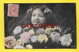 Carte Fantaisie JEUNE FEMME Thème Mode - CHEVEUX COIFFURE - Edit E.L.D. 1907 - Rose - Femmes