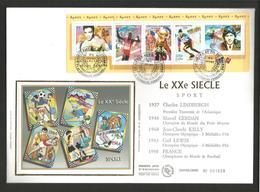 FDC 2000 BANDE LE SIECLE AU FIL DU TIMBRE - SPORTS - Postzegels