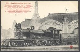 F. Fleury N°230 - Les Locomotives Etats-Unis - Locomotive Compound Type Atlantic - St.Louis - Voir 2 Scans - Eisenbahnen