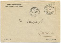 1788 - FRANCO Auf Brief Mit Stempel BASEL 3 -1.I.29 - Portofreiheit