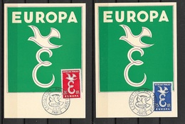 FDC Cartes  Maximum 1er Jour Paris  1309/1958 Les  N° 1173 Et 1174  Europa  1958 TB ....soldé à Moins De 20 % ! ! ! - 1958