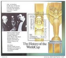 ANTIGUA  2534 MNH FOOTBALL ; SOCCER 2002  KOREA JAPAN  ;  THE HISTORY OF WORLD CUP  ( - Fútbol