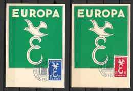 FDC Cartes  Maximum 1er Jour Strasbourg  1309/1958 Les  N° 1173 Et 1174  Europa  1958 TB ....soldé à Moins De 20 % ! ! ! - 1958
