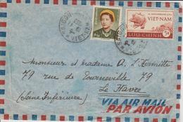 Vietnam Lettre De 1953 Saigon Pour La France - Viêt-Nam