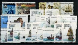 2584-Australia Nº 19/22, 35/52 - Territorio Antártico Australiano (AAT)