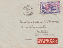 Vietnam Lettre De 1955 Saigon Pour La France - Viêt-Nam