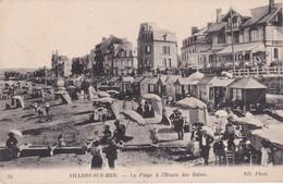 Villers Sur Mer La Plage à L'heure Des Bains - Villers Sur Mer