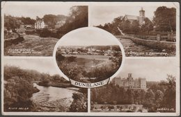 Multiview, Dunblane, Perthshire, C.1930s - Valentine's RP Postcard - Perthshire