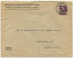 1790 - IKW 15 Rp. Tell Auf Brief Der Abteilung Für Industrielle Kriegswirtschaft - Dienstpost