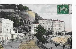 6 Cpa Nice: Hôtel Suisse : Vues Diverses Avec Tour Bellanda, Escalier Lesage...grande Animation - Bar, Alberghi, Ristoranti