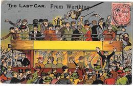 Angleterre - THE LAST CAR FROM WORTHING - Carte Illustrée Très Animée - Voyagé En 1913 - NATIONAL SERIES N° 1601 - Worthing