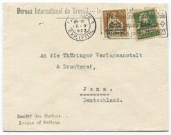 1792 - 10 + 30 Rp. BIT Mischfrankatur Auf Brief Nach JENA In Deutschland - Dienstpost