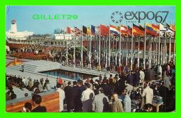 EXPOSITIONS - EXPO67, MONTRÉAL -  PLACE DES NATIONS - No EX240 - ANIMÉE - - Expositions