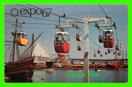 EXPOSITIONS - EXPO67, MONTRÉAL - LE TÉLÉFÉRIQUE DE LA RONDE - No EX241 - ANIMÉE - - Expositions