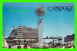 EXPOSITIONS - EXPO67, MONTRÉAL - LE PAVILLON DE LA FRANCE - No EX208 - ANIMÉE - - Expositions