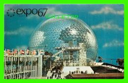 EXPOSITIONS - EXPO67, MONTRÉAL -  LE PAVILLON DES ÉTATS UNIS - No EX103A - ANIMÉE - - Expositions