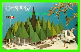 EXPOSITIONS - EXPO67, MONTRÉAL - PAVILLON DE L'ASSOCIATION CANADIENNE DES PATES & PAPIER - No EX112A - - Expositions