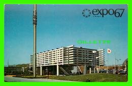 EXPOSITIONS - EXPO67, MONTRÉAL - LE PAVILLON JAPONAIS - No EX253  - ANIMÉE - - Expositions